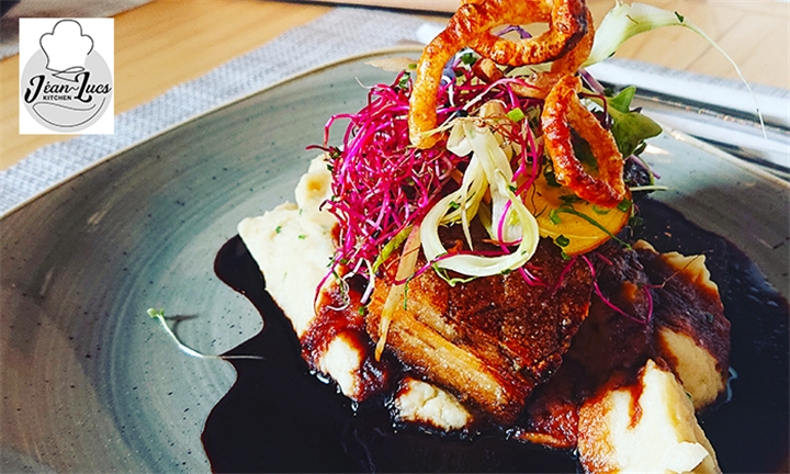 Choice of Steak or Pork Belly with Chips each for up to Four at Jéan-Lucs Kitchen