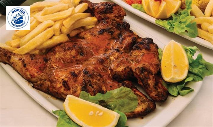 2 x Full Chickens to Share at Adega Restaurant Fordsburg, (Halaal)