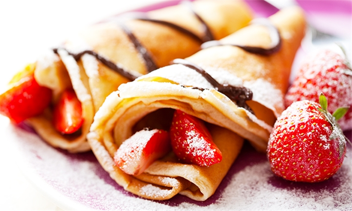 10 Pancakes to Share with Hot Drink Each for Two at Cup & Cake
