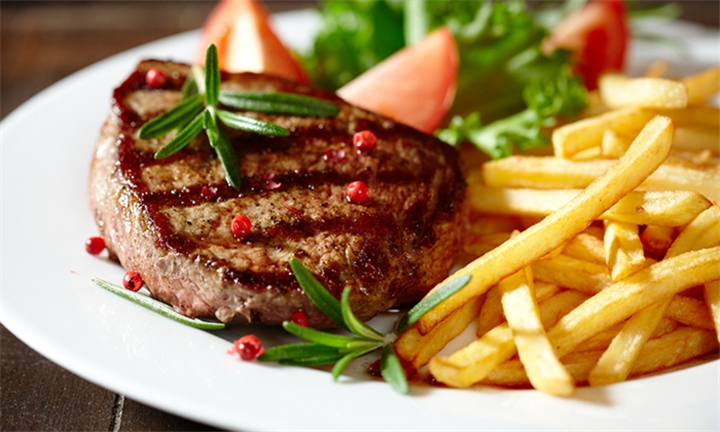 Lunchtime Special: 150g Sirloin Steak with Egg & Chips each for Two at Kitcheners Carvery Bar