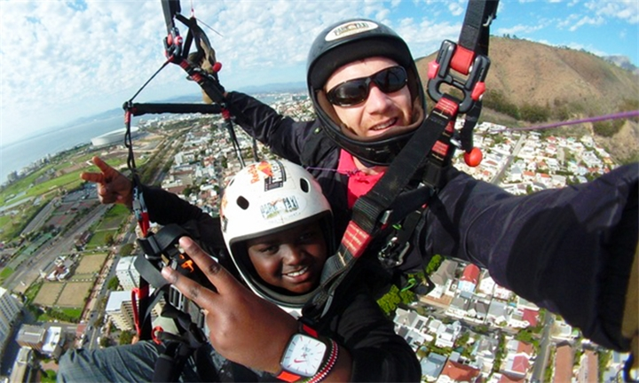 Tandem Paragliding Flight Experience with Para-Taxi