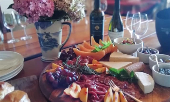 Mixed Platter to Share with Wine Tasting or Glass of Wine each for up to Four at Mooiplaas Wine Estate