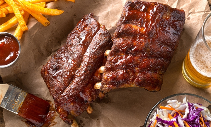 500g Pork Ribs Including Side with Beer or a Glass of Wine each for Two at Navigators & Co