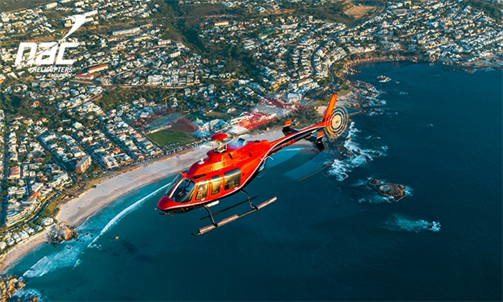 Scenic Helicopter flight and a 3-Course Meal at Either La Parada, Harbour House or Grand Africa Beach & Cafe