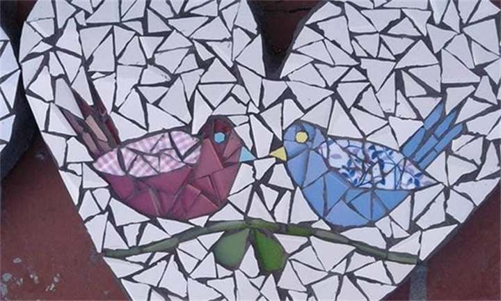 2-Hour Mosaic Workshop for up to Four from Organic Mosaics