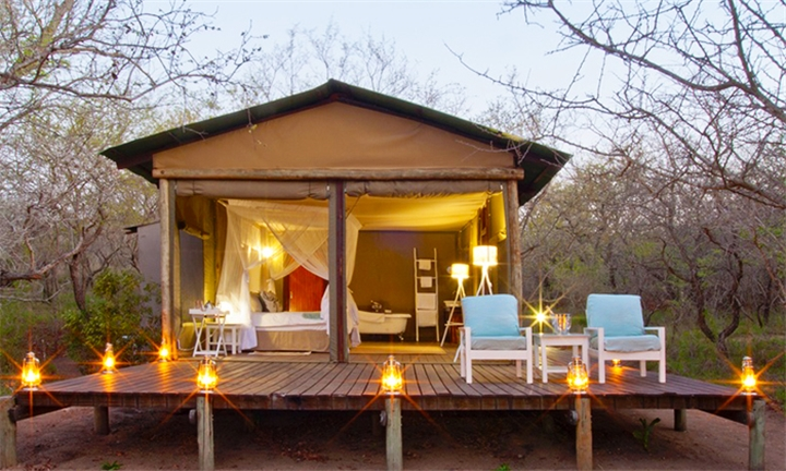 Kruger Park: 2 or 3-Night Stay for Two Including Breakfast, Lunch, Dinner, Picnic, Massage, Tour and More at Ngama Tented Safari Lodge