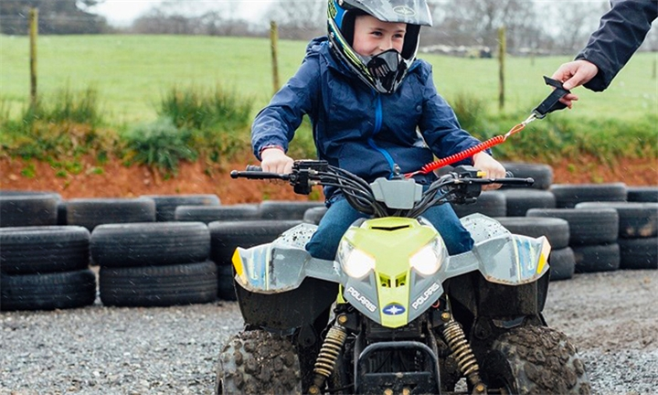 Kiddies Quad Bike Rides Including Burger at Horse Riding Adventure