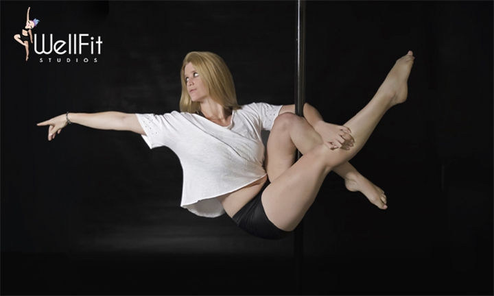 1-Month Fitness Package: Pole, Stretch, Aerial or Dance Classes at WellFit Studios