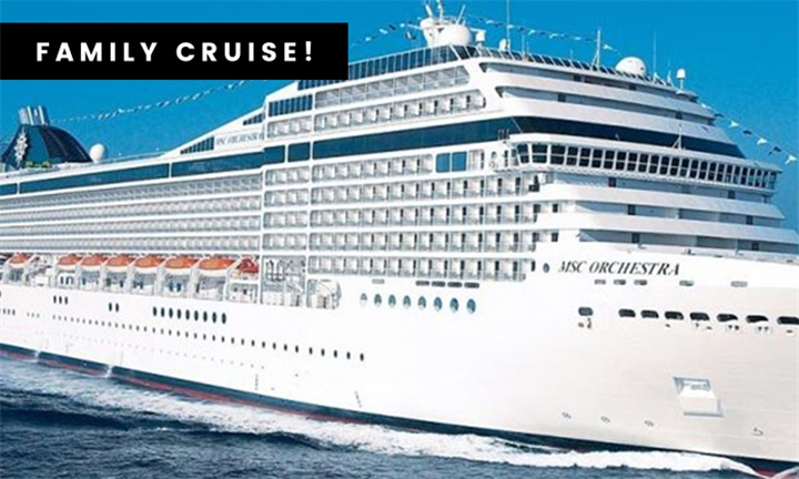 Family Cabin, 1st April 2020: 4-Night One Way Durban – Cape Town Cruise Aboard the MSC Orchestra