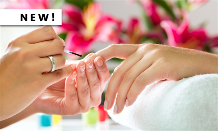 Express Mani and/or Pedi with Paint from Glam Bar