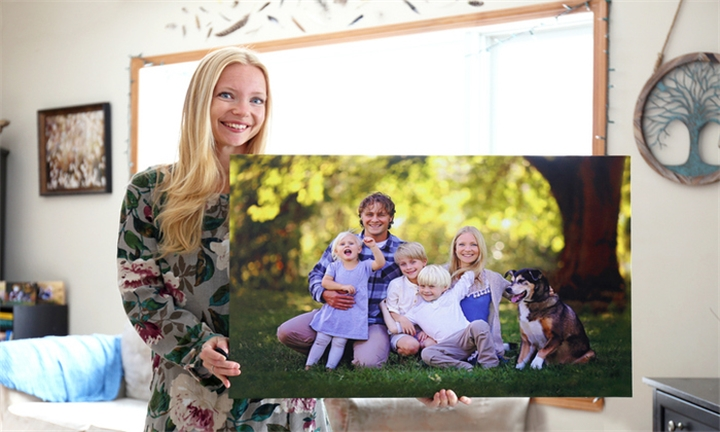 3 x A3 Block Mounted Canvas Including Delivery from TTL Photobooks