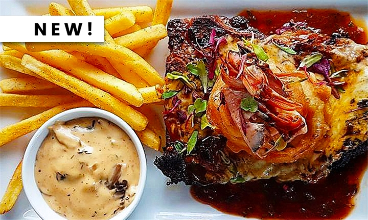 Choice of Steak with Chips & Onion Rings and a Choice of Sauce for Two at Legends Diner