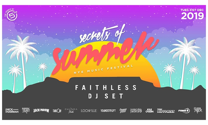 Standard or VIP Access Ticket to Secrets of Summer New Years Party FT Faithless hosted by 5FM