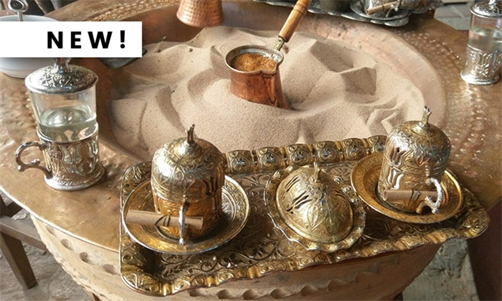 Traditional Turkish Coffee Making on Sand for Two at Turkish Spirit