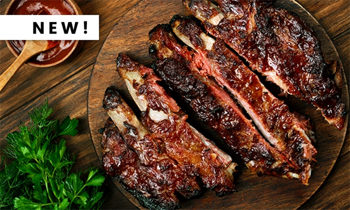 1kg Pork Ribs Incl Choice of Side to Share at Choo Choo Junction
