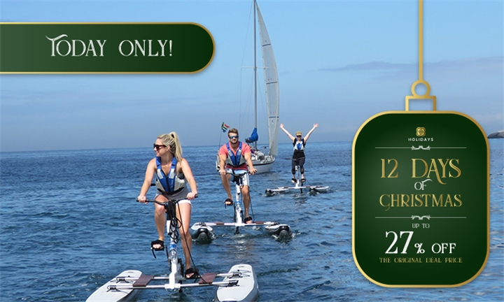 2-Hour Guided Water Bike Experience for One or Two with Cape Town Water Bikes