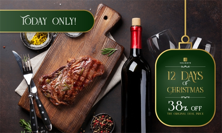 200g Hand-Trimmed Steak Each Including Bottles of Wine to Share for up to Six at The Canal Café - aha Harbour Bridge Hotel & Suites