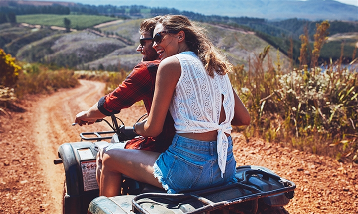 Quad Bike Trail Ride with Optional 1-Night Accommodation for Two at Horse Riding Adventure