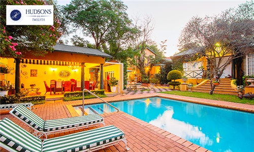 Gauteng: 1-Night Stay for Two Including Wine and Turn Down at Hudsons on Twelfth