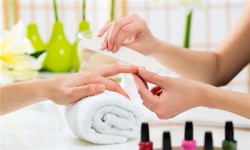 Express Manicure and Pedicure with Optional Deep Cleanse Facial from Harmonie Beauty Lounge