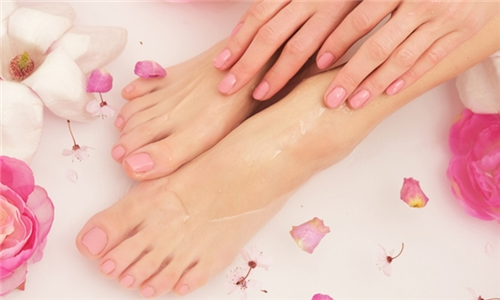 Deluxe Manicure or Pedicure with Gel Overlay at Unique Nails Studio
