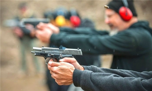 Shooting Range Experience with Air-Soft Gun at Blades and Triggers
