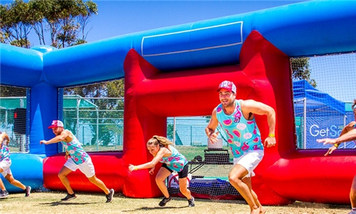 Hire an Inflatable Dodgeball Court for Any Event for up to 40 Including Delivery, Setup & Referees from Dodgeball SA