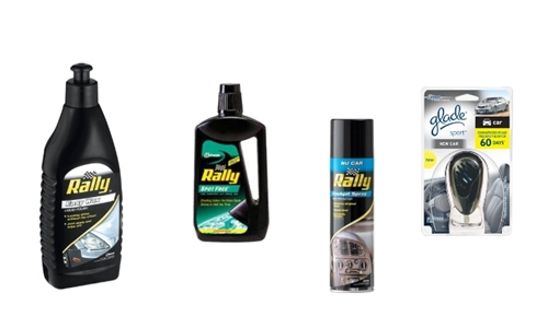 Rally and Glade 4-Piece Auto Cleaning Car Bundle Delivered to your Door