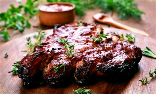 800g Pork Ribs with Side Including Delivery from Choo Choo Junction