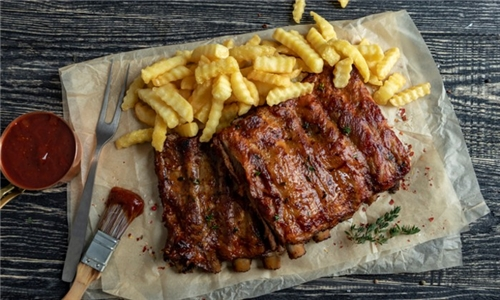 600g Pork Ribs with Chips Delivered to your Door (excl) from Santis
