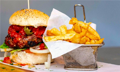 Choice of 2 x Supersized Gourmet Burgers with Sides Including Delivery from The Press Bar & Grill