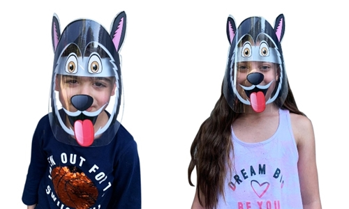 Essential Goods: Kids Protective Shield Masks with DIY Themed Stickers Including Delivery