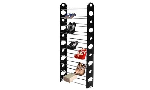 Shoe Rack 10 Tier – Black Including delivery