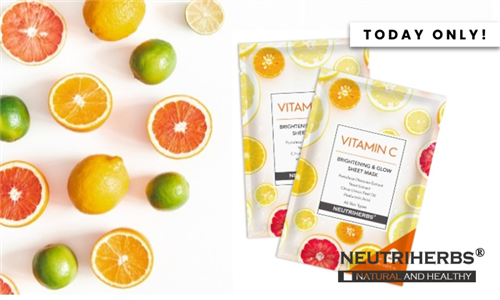Vitamin C Brightening and Glow Sheet Mask Delivered to your Door from Neutriherbs