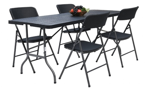 Fine Living Folding Table & Chairs – Set of 4 Including Delivery