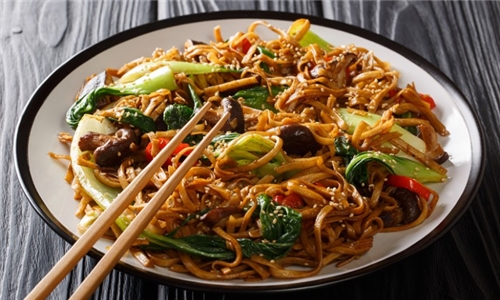 Choice of Veg and Tofu or Chicken/Beef Chow Mein with Noodles/Rice Including Spring Rolls from Imperial Gardens Restaurant