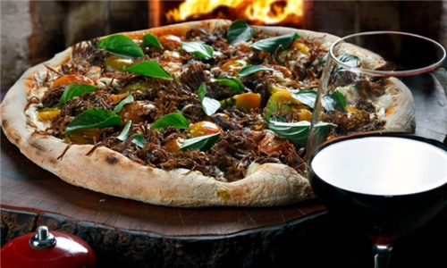 Pick up or Delivery: Large Pizza with a Bottle of Wine from The Mash Tun