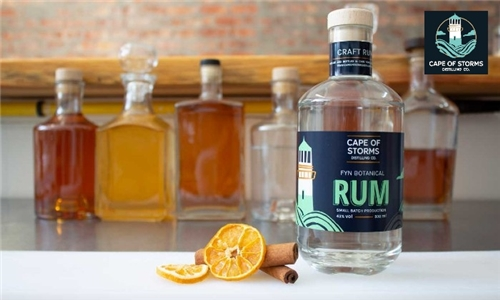 Pick-Up or Delivery: 1 x Bottle of Fyn Botanical Rum from Cape of Storms Distilling Company
