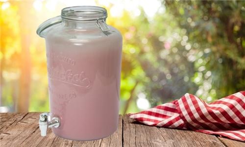 Fine Living Vivant Beverage Dispenser – Pink Frosting Including Delivery
