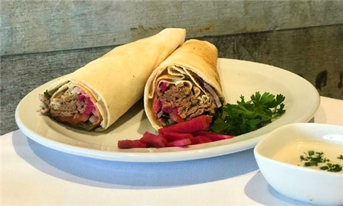 Pick-Up or Delivery: Choice of 2, 3 or 4 x Lebanese Wraps from Pizza Mezza