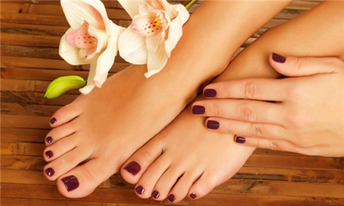 Manicure or Pedicure with Gelish from Fel Nails Flair