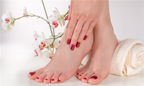 Express Manicure or Pedicure with Gel from The Bedazzled Beauty Studio