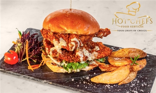 Pick-Up or Delivery: Choice of Chicken Burgers, Baguettes or Wraps from Hot Chefs