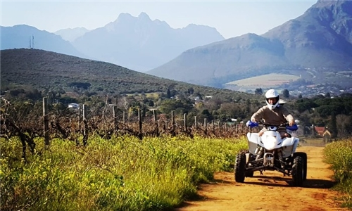Quad Biking Experience Including 3-Course Braai in the Winelands with Adventure Cape Town