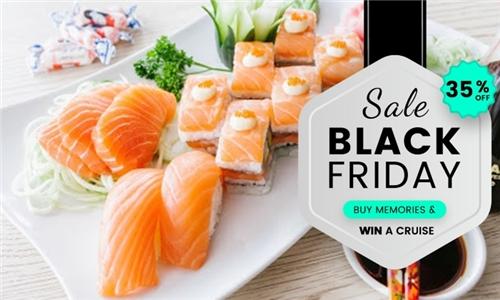 26-Piece Salmon Sushi Platter at Hao Ke Lai