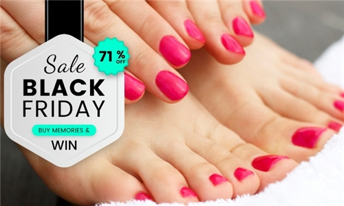 Mini-Manicure and Mini-Pedicure with Gel Polish Overlays from Nailz for U