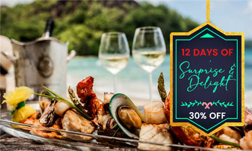 Sautéed Prawn Platter Including Complimentary Glass of Wine Each at The Canal Café – aha Harbour Bridge Hotel & Suites, Foreshore