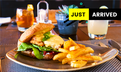 Choice of Chicken or Beef Burger with Fries at The Canal Café at aha Harbour Bridge Hotel & Suites