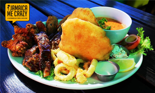 Delicious Platter to Share at Jamaica Me Crazy