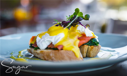 Choice of Breakfast at Spice on Main at The Sugar Hotel